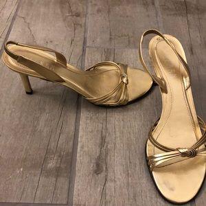 Lauren Ralph Lauren gold sandals